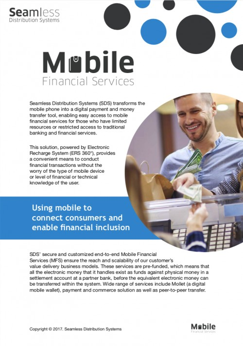 Seamless Mobile Financial Services brochure screenshot
