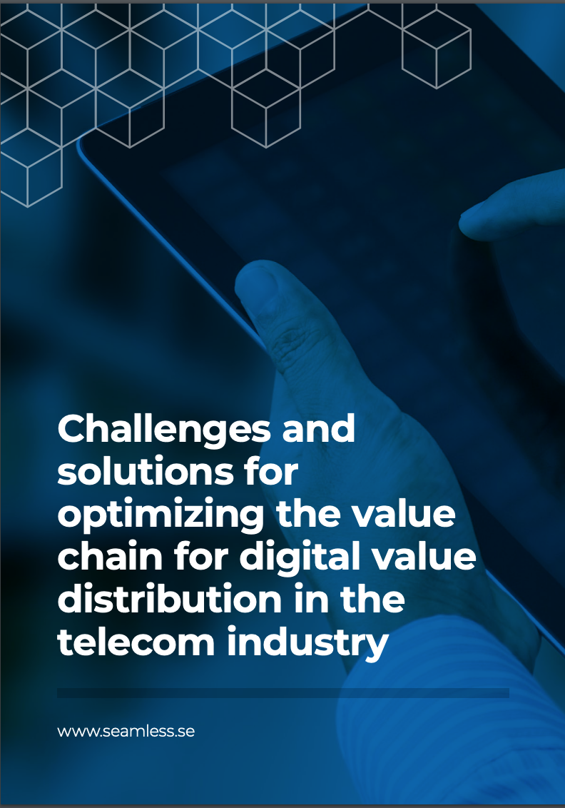 Challenges and solutions for optimizing the value chain for digital value distribution in the telecom industry